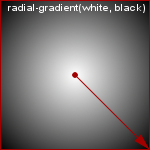 radial-gradient(white, black)